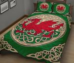 Wales Quilt Bedding Set - Welsh Dragon Quilt Bed HD02371