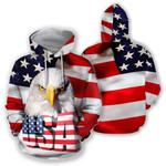Ligerking™ Big Usa Eagle 3D Hoodie HD02409