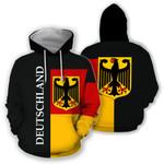 Germany Hoodie Flag Half Coat Of Arms HD01930