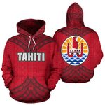 Ligerking™ Tahiti Polynesian All Over Hoodie