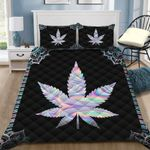 Ligerking™ 420 Weed Hologram Quilt bedding set HD00949