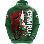 Welsh Hoodie - Wales Flag - Cymru Dragon HD02113