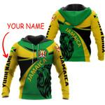 Ligerking™ Jamaica Round Coat Of Arms Lion Hoodie HD03055