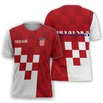 Croatia Coat Of Arms T-shirt Personalized Name Version HD02264