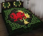 Wales Quilt Bedding Set - Dragon Daffodil Celtic HD02363