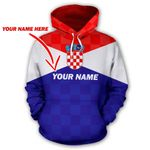Croatia Spirit Hoodie Personalized Name Version HD02260