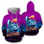 Ligerking™ CatPunk  Hoodie  3D all over print HD02772