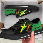 Ligerking™ Jamaica - Jamaican Lion Low Top Shoes HD02525