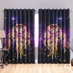 Butterfly Blackout Thermal Grommet Window Curtains HD02465