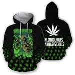 Ligerking™ 420 Hoodie Cannabis Chills 3D all over print HD02885