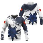 Ligerking™ Switzerland Blue Edelweiss Hoodie DQH0052