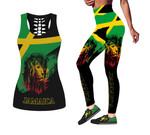 Ligerking™ Jamaica Lion Tank Top, Leggings HD02880