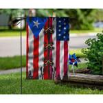 America & Puerto Rico Flag 02871