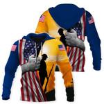 Ligerking™ Usa Army Flag 3D Hoodie HD02621