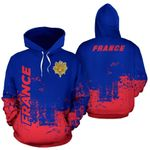 Ligerking™ France All Over Hoodie - Smudge Style - HD02665
