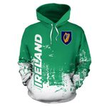 Ireland All Over Hoodie - Smudge Style HD01867