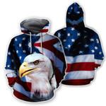 Ligerking™ Eagle Usa Flag 3D Hoodie HD02485