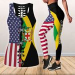 Ligerking™ Jamaica And America Tank top, Leggings HD02821