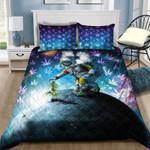 Ligerking™ 420 Weed Astronaut Galaxy Quilt bedding set HD02622