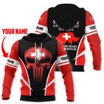 Ligerking™ Switzerland Personalized Name Hoodie HD02674