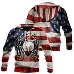 Ligerking™ Eagle Usa Flag 3D Hoodie HD02623
