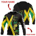 Ligerking™ Jamaica Lion Flag Personalized Name Hoodie HD02890