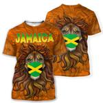 Ligerking™ Jamaica Lion Flag T-Shirt HD03211