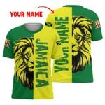 Ligerking™ Jamaica Personalized Name Lion T-Shirt HD02718