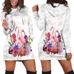 Ligerking™ Flamingo 3D Hoodie Dress HD03104