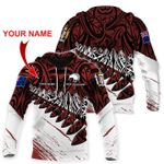 Ligerking™ New Zealand Aotearoa personalized name hoodie HD02632