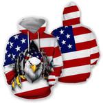 Ligerking™ Eagle Usa Flag 3D Hoodie HD02504
