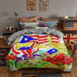 Ligerking™ Puerto Rico Quilt Bedding Set 02873