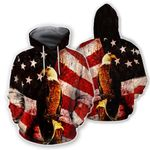 Ligerking™ Eagle Usa Flag 3D Hoodie HD02484
