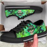 Ligerking™ 420 Smoke Skull Low Top Shoes HD02711