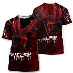 Welsh T-shirt Pullover - Welsh Red Dragon Breaking Out HD02771