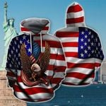 Ligerking™ Eagle Usa Flag 3D Hoodie HD02549