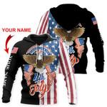 Ligerking™ Eagle Usa Flag 3D Hoodie HD02791