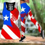 Ligerking™ Puerto Rico Tank top, Leggings 02854