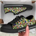 Ligerking™ Parrot Family Black  Low Top Shoes HD02722