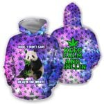 Ligerking™ 420 Hoodie Don't Care Panda 3D all over print HD02355
