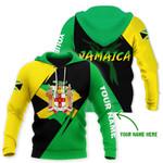 Ligerking™ Jamaica Flag Personalized Name Hoodie HD03216