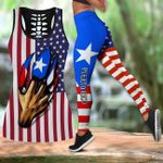 Ligerking™ Puerto Rico Tank top, Leggings 02136