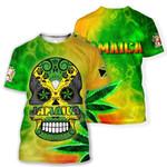 Ligerking™ Jamaica Skull T-shirt HD02996