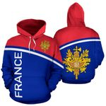 Ligerking™ France All Over Hoodie - Curve Version HD02664
