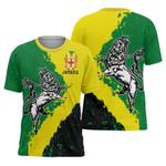 Ligerking™ Jamaica - Lion Of Judah On Top T-Shirt HD02112