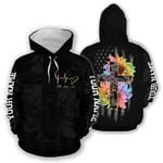 Ligerking™ Jesus Faith Hope Love hoodie 3D All Over Printed HD02600