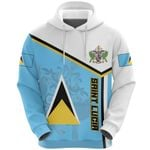 Ligerking™ Saint Lucia Independence Day Hoodie Flag HD02458