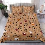 Ligerking™ Guitar And Musical Notes Bedding Set HD03997