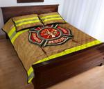 Ligerking™ FireFighter Quilt Bedding Set HD04097