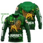 Ligerking™ Jamaica Lion Personalized Name Hoodie HD02922